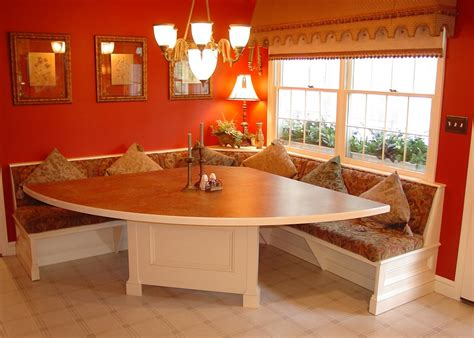 kitchen booth seating dining room transitional  alcove