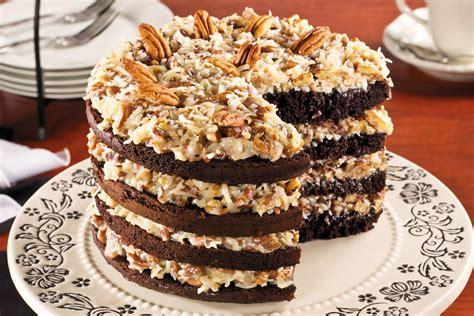 Sky High German Chocolate Cake | MrFood.com