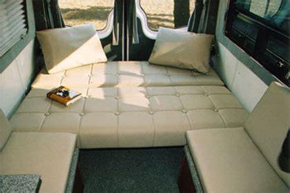 sprinter dyo  eb couches sportsmobile custom camper vans