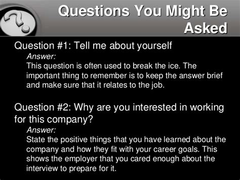how to answer 10 common questions
