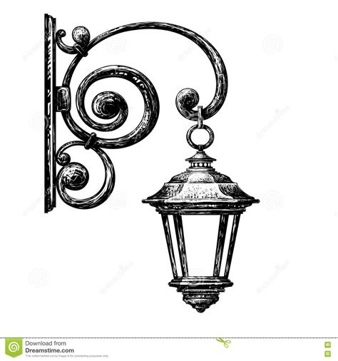 street light clipart drawing pencil   color street