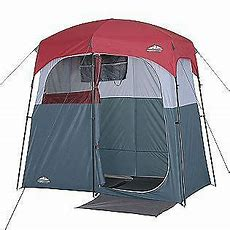 Portable Double Shower Changing Room Tent Camping Hiking