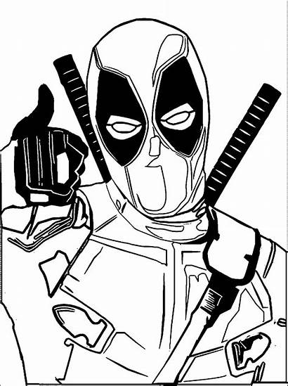 Deadpool Coloring Pages Chibi Spiderman Drawing Clipart