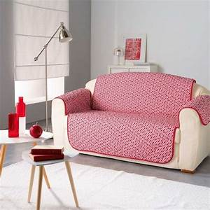 Housse De Canapé 3 Places : housse de canap 3 places kiria rouge d co textile eminza ~ Medecine-chirurgie-esthetiques.com Avis de Voitures