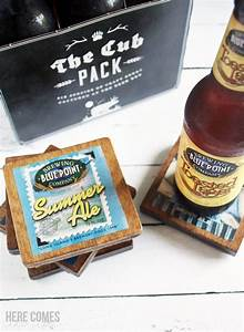 diy beer label coasters here comes the sun With beer with your own label