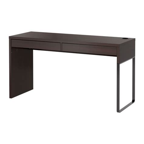 console bureau ikea micke desk black brown ikea