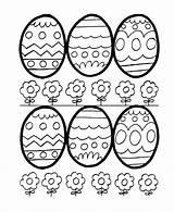 Coloring Easter Eggs Egg Sheets Outlines Printable Hard Children Bluebonkers sketch template