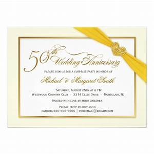 50th golden wedding anniversary invitations 45quot x 625 With golden wedding anniversary invitations