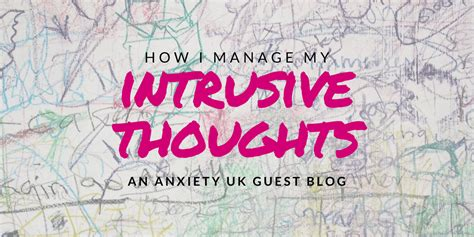 manage  intrusive thoughts guest post anxiety uk