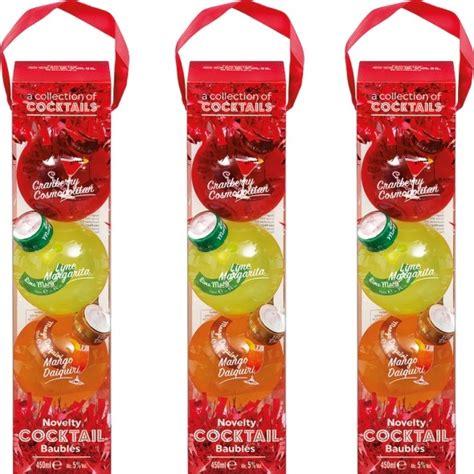buy cocktail filled baubles  lidl red
