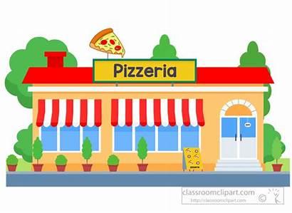 Clipart Building Pizzeria Clip Graphics Cartoon Architecture