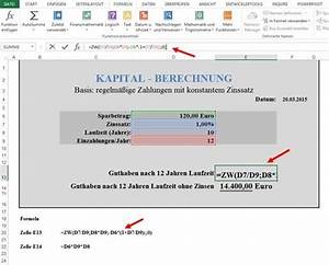 Zinseszins Berechnen : ppedv team blog excel tipp zinsen berechnen ~ Themetempest.com Abrechnung