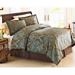 better homes and garden teal jacquard comforter cover set walmart com