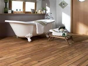 Parquet Pont De Bateau Joint Intégré : un parquet salle de bain en teck pr huil lapeyre ~ Melissatoandfro.com Idées de Décoration
