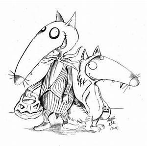 Bricolage Halloween Adulte : halloween activit s enfants coloriage loup petit loup et loup ~ Melissatoandfro.com Idées de Décoration