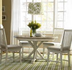 coastal white oak dining room set zin home
