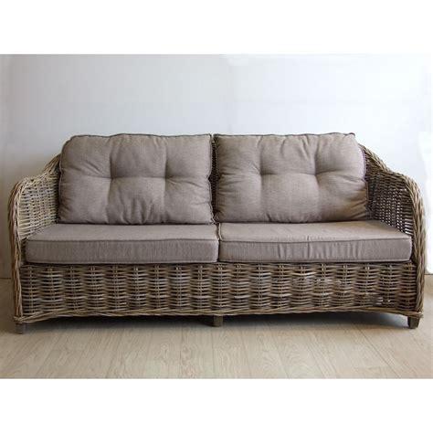 canapé avec coussin canapé quot vermont quot 2 5 places avec coussins vannerie du boisle
