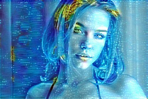 futuristic-digital-woman image - Free stock photo - Public ...
