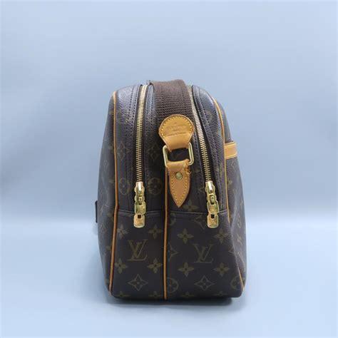 louis vuitton reporter monogram brown canvas messenger bag tradesy