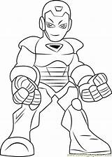 Coloring Iron Pages Hero Super Squad Cartoon Pdf Coloringpages101 sketch template
