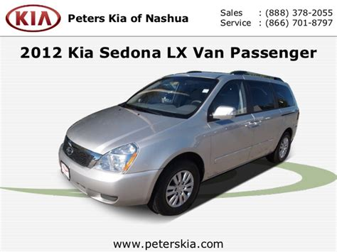 Peters Kia Of Nashua by Used 2012 Kia Sedona Lx Nashua Nh Kia Dealer