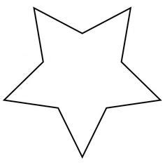 star silhouette outline clip art yellow star october