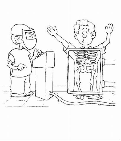 Hospital Coloring Pages Ray Printable Fun Doctor