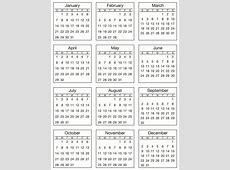 2018 calendar mini – Merry Christmas & Happy New Year 2018