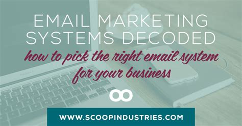 email marketing systems decoded   pick