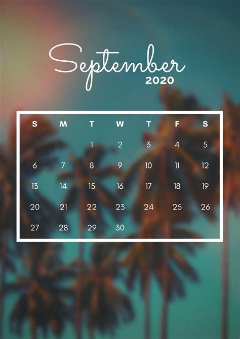 iPhone September 2020 Calendar Wallpapers Download | Calendar 2020