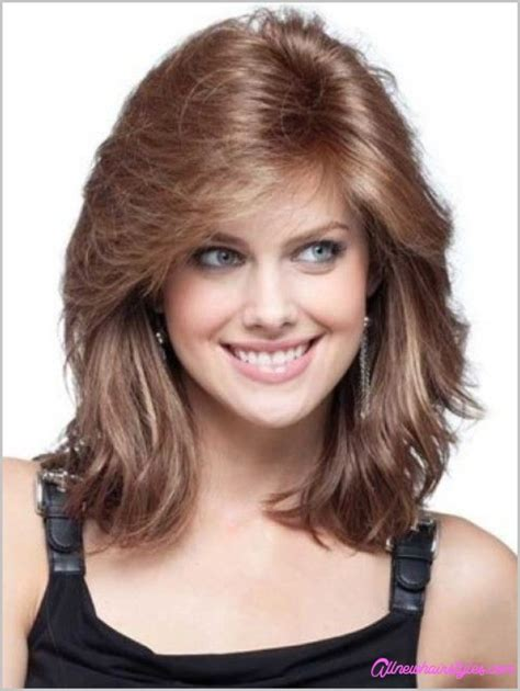 medium length curly haircuts   faces