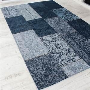 Teppich Vintage Blau : vintage teppich antik trendiger patchwork stil designer teppich in blau teppiche ~ Whattoseeinmadrid.com Haus und Dekorationen