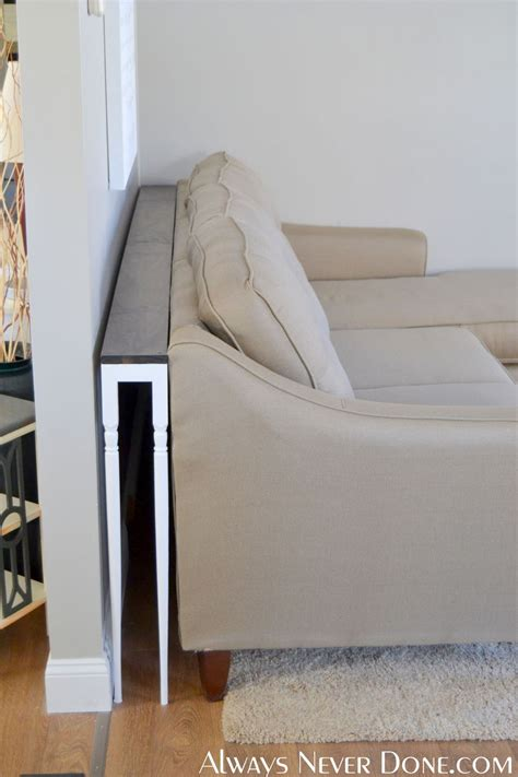 hometalk diy thin sofa table