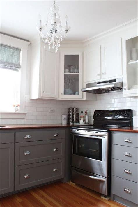 white upper cabinets grey lower white upper cabinets dark lower kitchen pinterest 262 | be350e0cca23b6e8c864860b6ec6a032