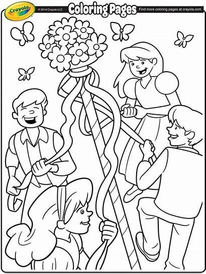 Coloring Crayola Maypole Pages