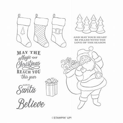 Jolly Holly Stampin Stamp Stampinup Cling Www3