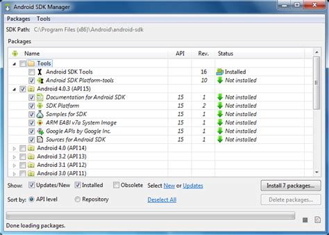 android sdk manager android emulator to run citrix xenapp receiver for mobile