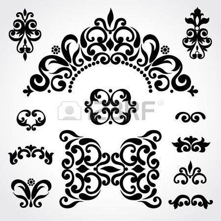 Cornici Celtiche Vector Set Con Ornamento Classico In Stile Vittoriano