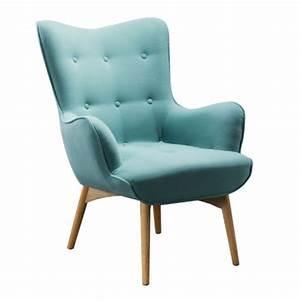Fauteuil Bleu Scandinave : fauteuil scandinave turquoise ~ Teatrodelosmanantiales.com Idées de Décoration