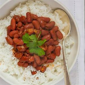 Puerto Rican Red Beans and Rice Recipe - Emily Farris ...