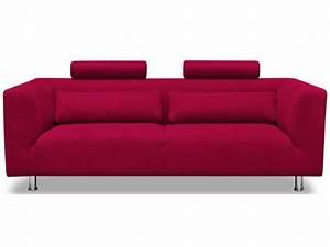 canape fixe 3 places dalia coloris rouge conforama With tapis design avec dimension canapé 3 places conforama