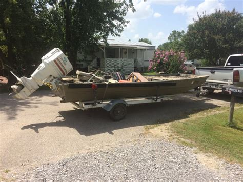 Used Flat Bottom Boats For Sale In Arkansas by 16ft X 6ft Aluminum Flat Bottom Boat For Sale 1000 Obo