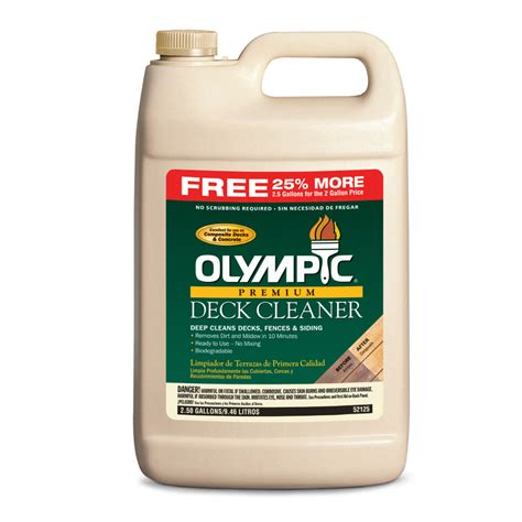 Olympic Deck Cleaner by Shop Olympic Olympic Premium Deck Cleaner At Lowes