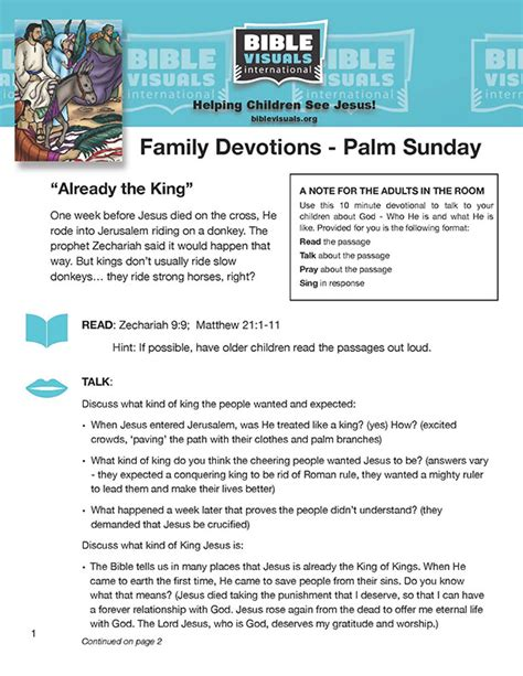 Palm Sunday Devotional And Coloring Page Downloads Ready