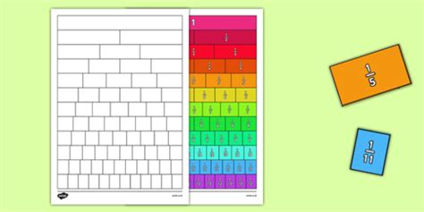 Fractions Wall Cut And Stick Worksheet  Activity Sheet