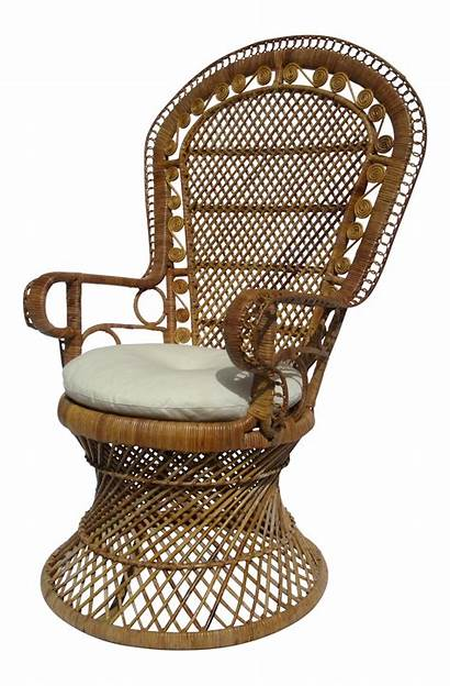 Chair Wicker Peacock Rattan Bohemian Boho Round