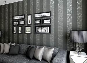 Black And Grey Living Room Wallpaper
