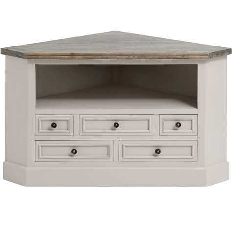 shabby chic tv corner unit french mushroom grey shabby vintage chic corner tv entertainment unit ebay