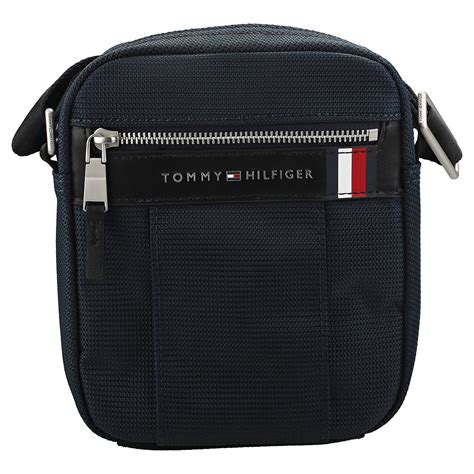 tommy hilfiger elevated mini reporter classic side bag  navy