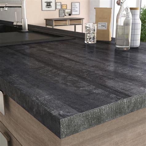 plan de travail stratifi 233 new vintage wood noir mat l 315 x p 65 cm ep 38 mm leroy merlin